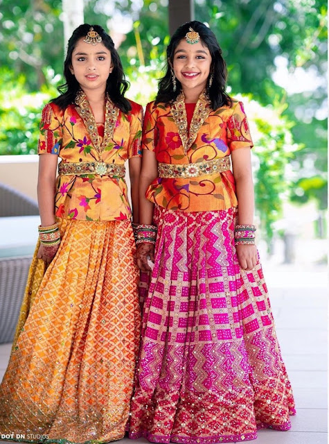 Manchu Vishnu Daughters Pythani Lehenga
