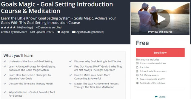 [100% Free] Goals Magic - Goal Setting Introduction Course & Meditation