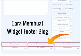 Membuat widget footer blog