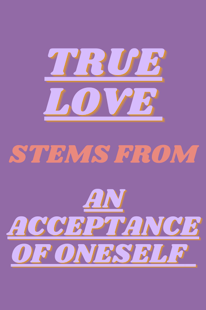 an acceptance of oneself