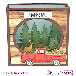Stamp/Die Duos:  Loads of Love, Custom Dies: Diorama with Layers, Curvy Slopes,Trees & Deer, Sentiment Strips  Paper Collections: Weathered Wood, Shabby Pastels, Boho Bolds