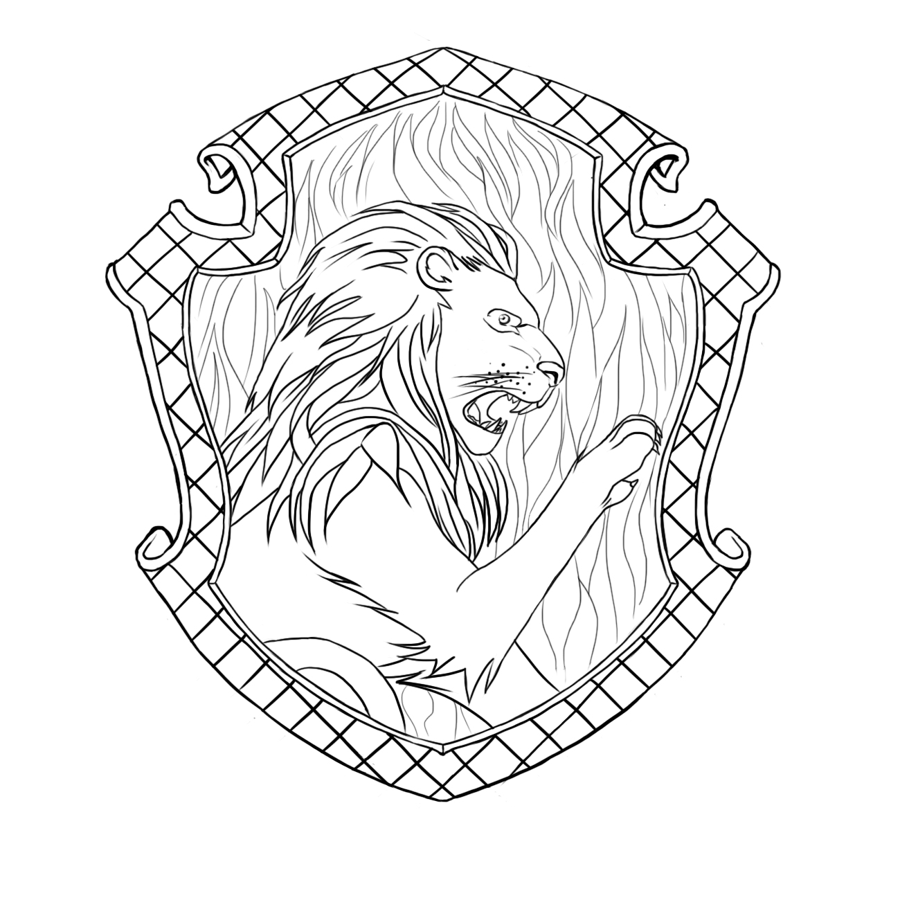 This is an image of Sweet hogwarts crest coloring page
