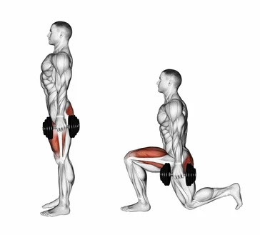 Stationary Lunges - exercises that target glutes