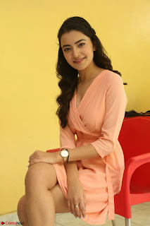 Rukshar Mir in a Peachy Deep Neck Short Dress 008.JPG