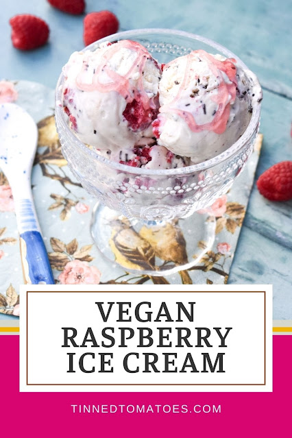 A luxuriously creamy, vegan raspberry ripple ice cream you can easily make at home. It's no-churn and super easy to make without an ice cream maker.
