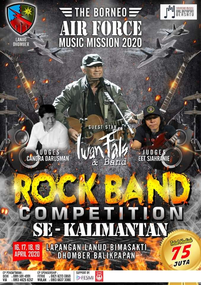 The Borneo Air Force Music Mission 2020 presents Rock Band Competition se-kalimantan