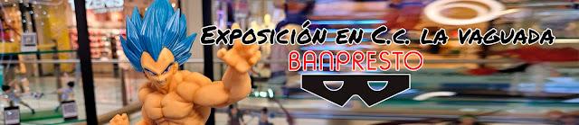 No os perdáis la exposición de figuras Banpresto en el C.C. La Vaguada (Madrid)