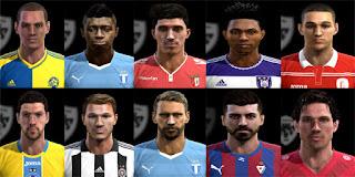 Faces: Andreasen, Antonio Luna, Arnason, Balazic, El Messaoudi, Imoh, Joao Pedro, Konate, Milunovic, Radonjic, Pes 2013
