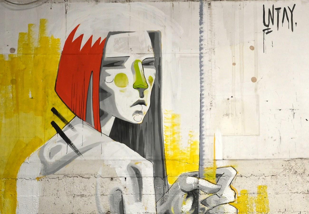 Indoor Street Art By Israeli Street Artist UNTAY somewhere in Tel Aviv, Israel.  3