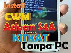Cara Install CWM Advan S4A Tanpa PC (Kitkat)