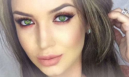 Maquillaje para ojos verdes sombras rojas