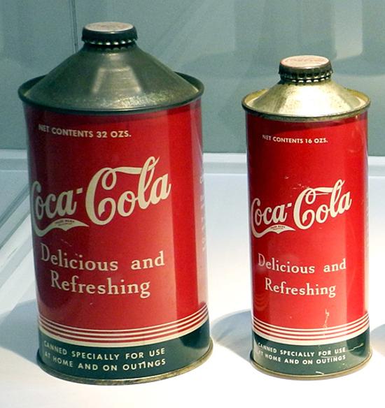 Coca-Cola cone style can