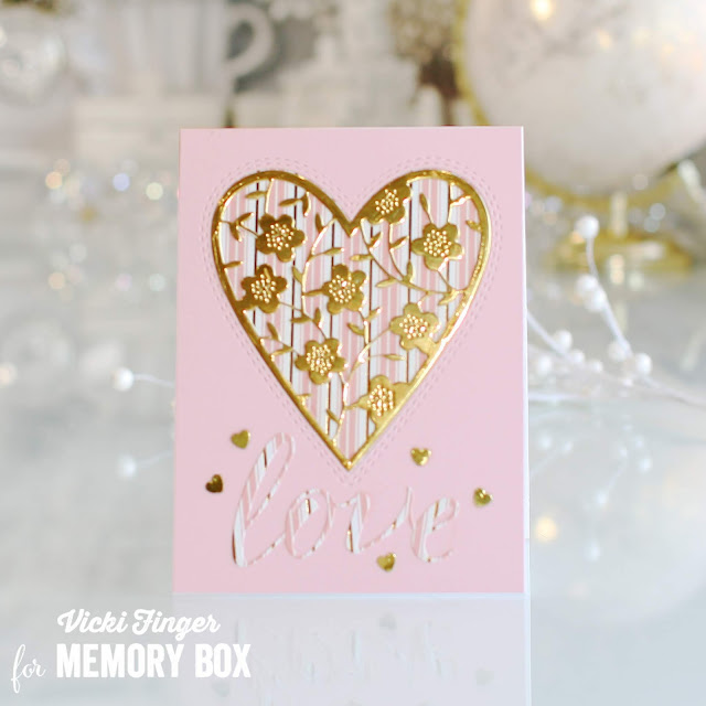 94368 Floral Bouquet Heart craft die