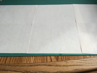 Paper on cutting mat
