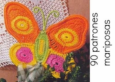 Mariposas patrones en crochet