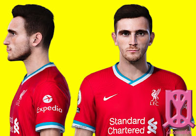 PES 2021 Faces Andrew Robertson by Qiya