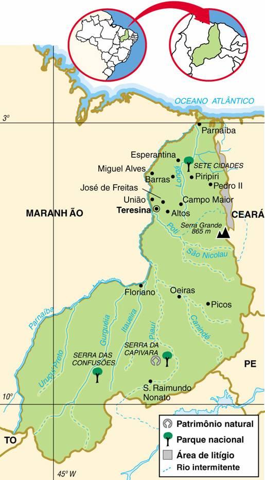 Piauí | Mapas Geográficos do Piauí