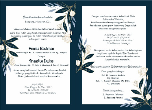 Template Undangan Elegant Blue Navy