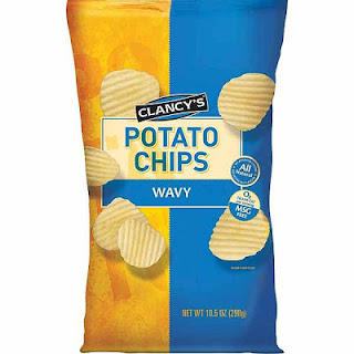 A stock image of Clancy's Wavy Potato Chips, from Aldi