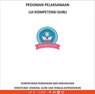 Buku Pedoman Uji Kompetensi Guru 2015
