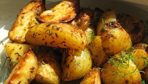 запечёный картофель