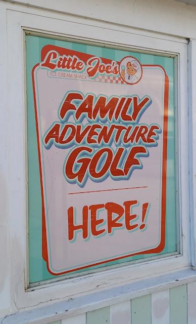 Family Adventure Golf at Little Joe's Ice Cream Shack in Lowestoft, Suffolk