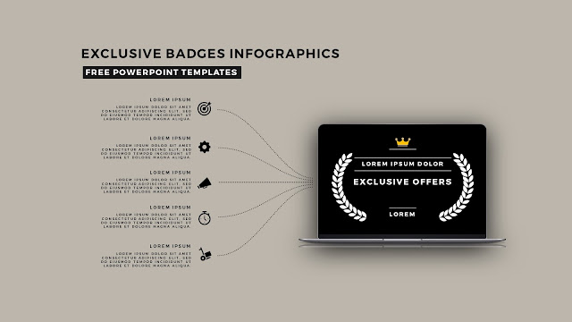 Infographic Badges Free PowerPoint Template for Special Offers Slide 16