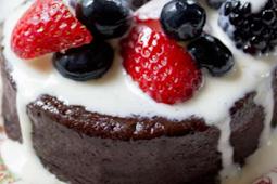 Gluten free Flourless Mocha Cake with Creme Anglaise #glutenfree