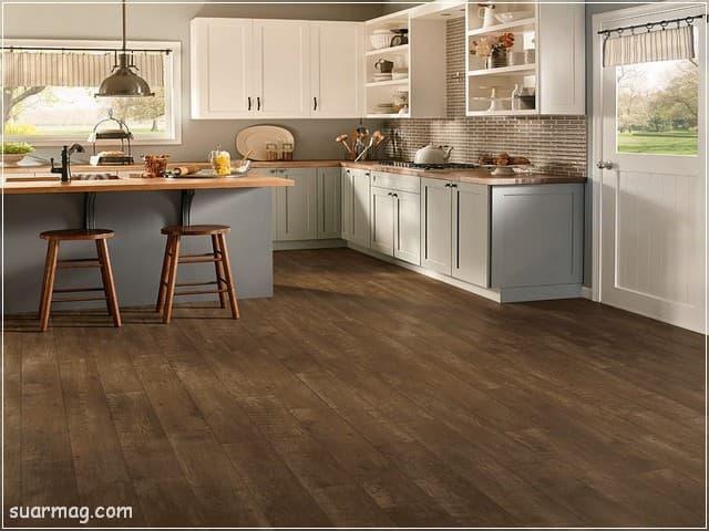 اشكال مطابخ خشب 9   wood kitchens shapes 9