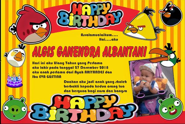 KARTU ULANG TAHUN ALGIS GANENDRA
