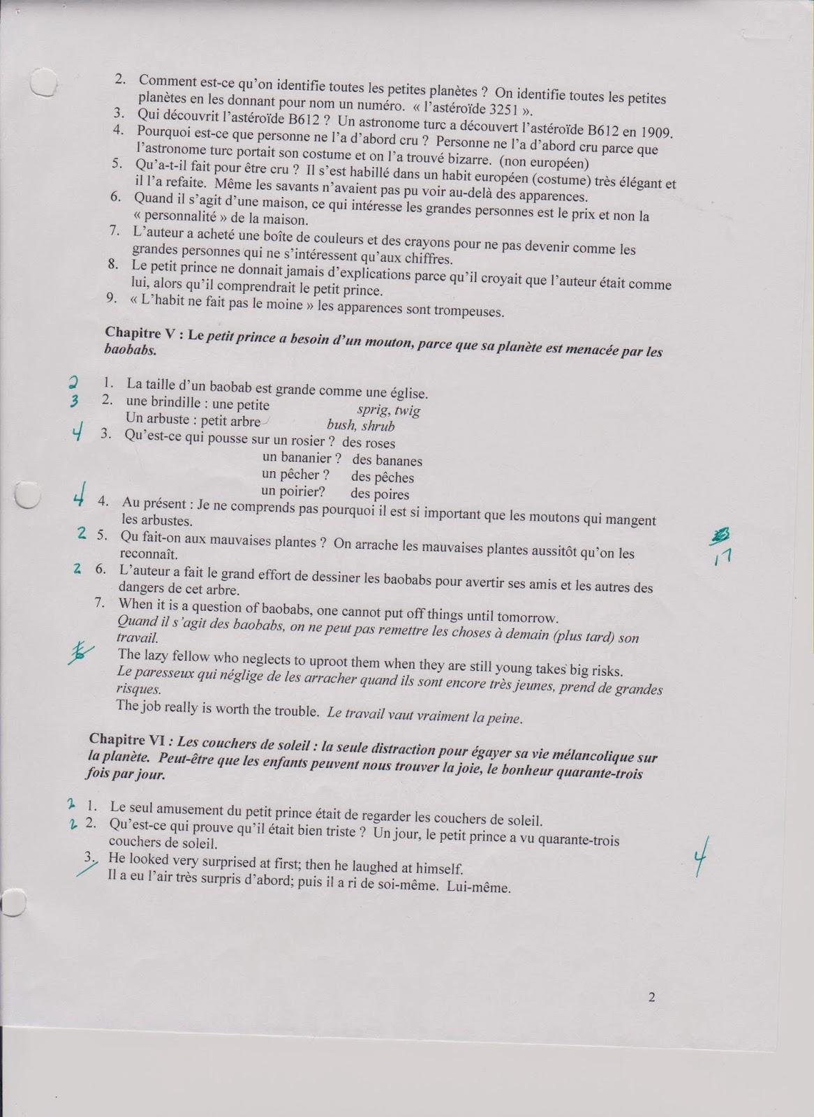 Notes For You: Questions et réponses, chapitres 1-23 de le