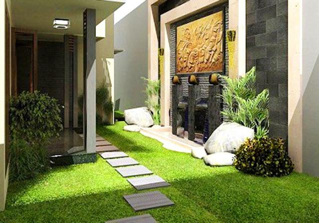 rumput taman rumah minimalis