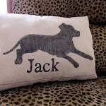DIY Dog Silhouette Pillow