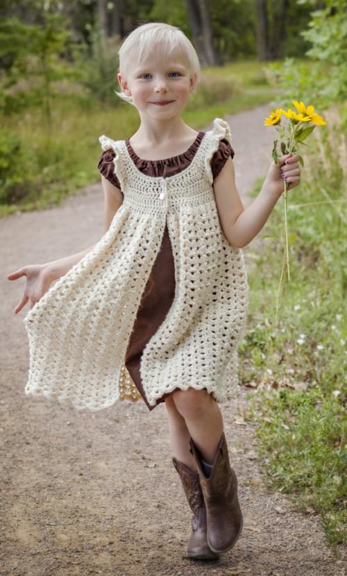 Angel Wings Pinafore - Free Crochet Pattern