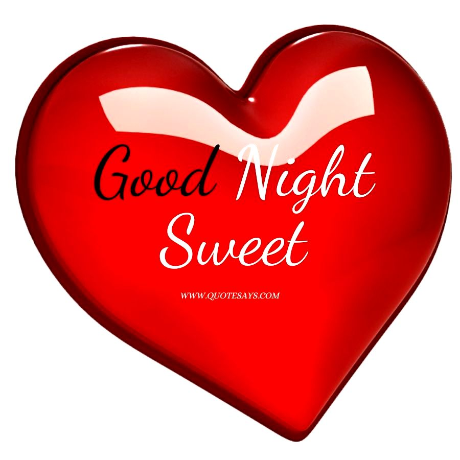 Good Night Red Love Heart