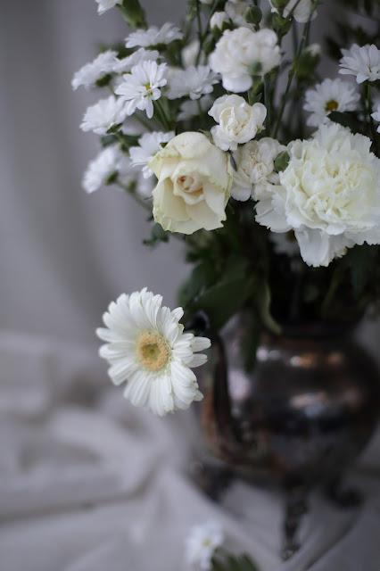 #kukkailottelua, daisy, neilikka, valkoinen
