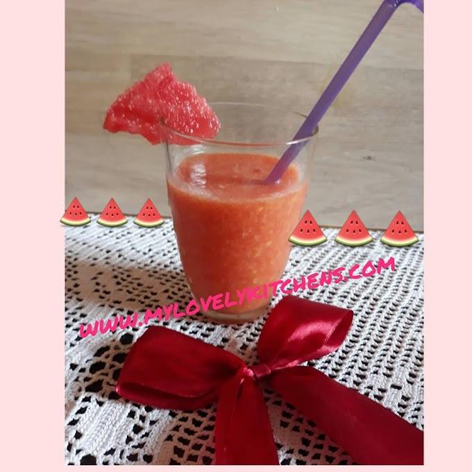 Smoothie with watermelon and peach-Smuti sa lubenicom i breskvom