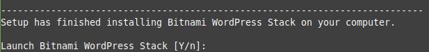 Bitnami confirmation