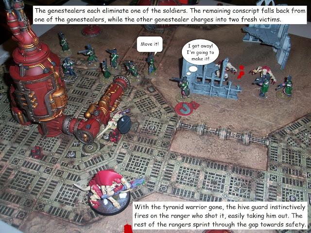 Warhammer 40k Kill Team Astra Militarum Tyranid battle report