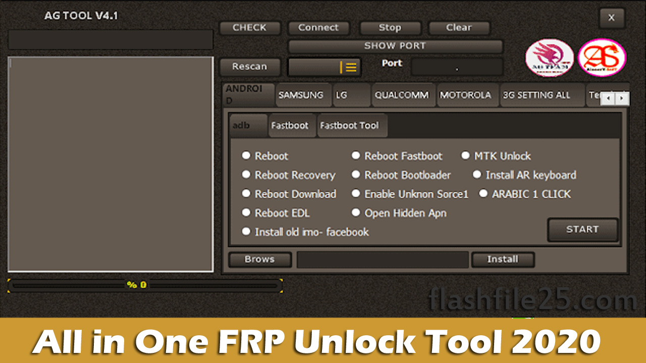 All in One FRP Unlock Tool | Latest AG Tool 2020 | FlashFile25