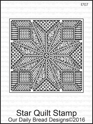 Our Daily Bread Designs Stamp Set: Star Quilt Stamp