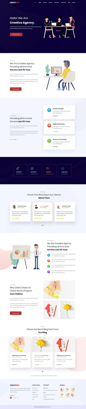 Creatopo- Agency and Business PSD Template