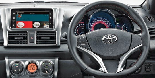 Interior New Agya Trd Kamera Parkir Grand Veloz Spesifikasi Dan Terbaru All Yaris 2018 Modern Dashboard With Toyota Move Features