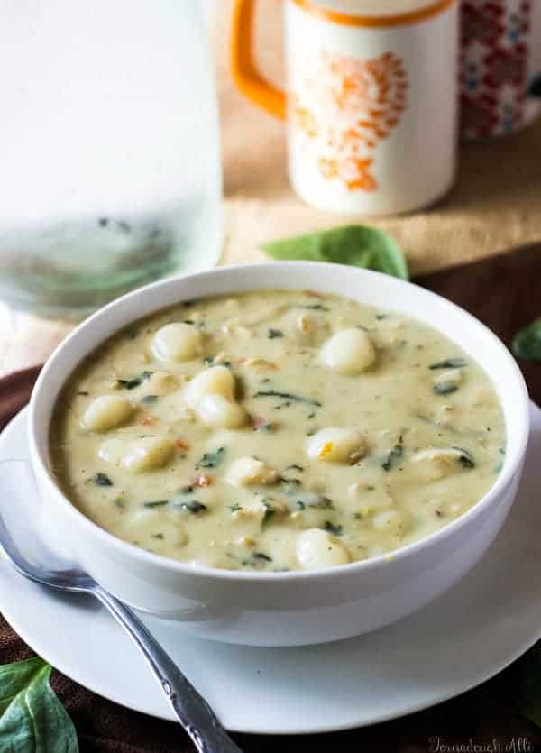 OLIVE GARDEN CHICKEN GNOCCHI SOUP #vegetarian #vegan #bowl #healthyfood #breakfast