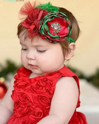 peinado de navidad para bebes