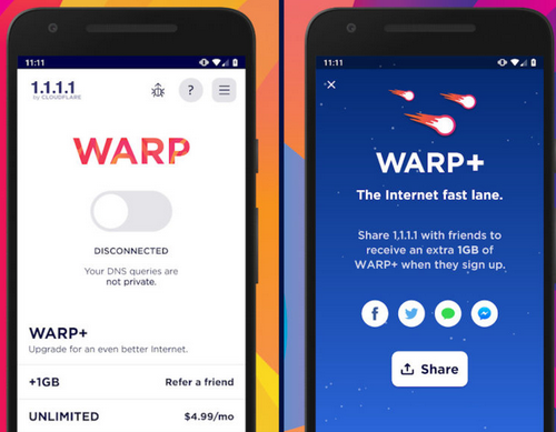 Download Cloudflare Unlimited Free Mobile VPN WARP - Now Available