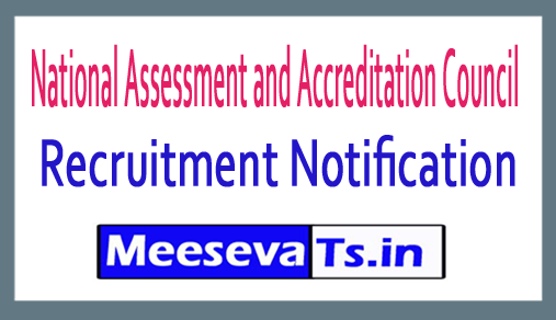 National Assessment and Accreditation Council NAAC Recruitment
