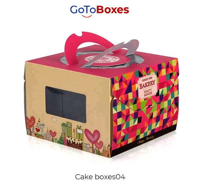 Get reliable and affordable Custom Cake Boxes at wholesale rate from GoToBoxes. Customize your packaging in any custom size and shape and also grab the free delivery of your order.