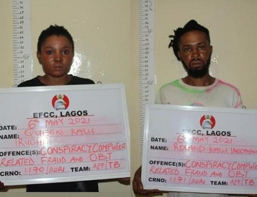 EFCC arrest 2 siblings for Internet Fraud  in Lagos
