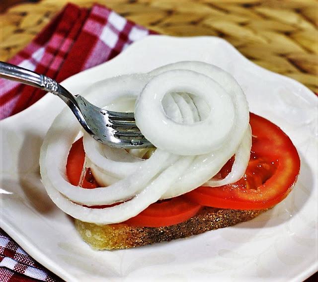 Marinated Vidalia Onion & Tomato Sandwiches Image